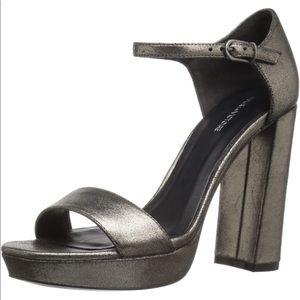 NEW Pour La Victoire Yvette Metallic Heeled Sandal
